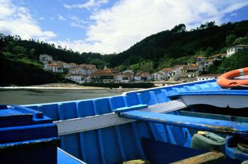 Vista general de Tazones, Principado de Asturias