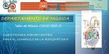 Taller de Música de 1ESO IES PJP presentación 2020-21