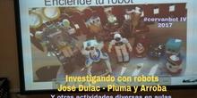 """#cervanbot 2017: """"Investigando con robots"""" de Pluma y Arroba (grabaciones realizadas por alumn@s)."""