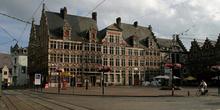 Vista de la Veerleplein, Gante, Bélgica