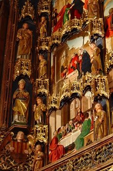 Detalle del Retablo Mayor Colegiata de Bolea, Huesca