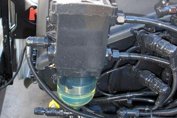 Vehículos industriales. Filtro decantador de combustible con sen