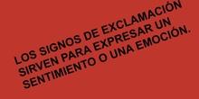 PRIMARIA 1º - SIGNOS DE EXCLAMACIÓN - LENGUA Y LITERATURA - FORMACIÓN