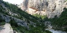 Montañas alrededor del río Els Estrets, cerca de Arnes, Tarragon