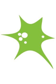 Globo verde explotando