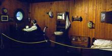 Cámara del capitán de un barco de cabotaje, Museo Marítimo de As