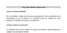 FAQs Taller Moodle