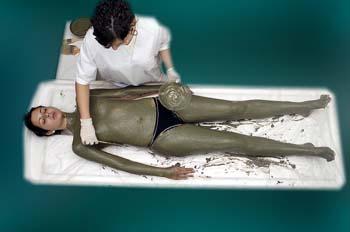 Envolturas de arcillas y algas: aplicación tendido supino
