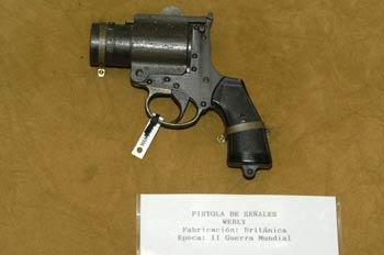 Pistola de señales Webly, Museo del Aire de Madrid