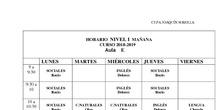 Horarios Secundaria Presencial 2018-19