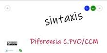 SINTAXIS: C.PVO VS CCM