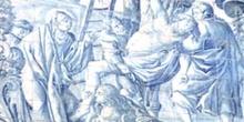 Descendimiento en cerámica azul -Olivenza, Badajoz