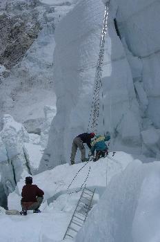 Colocando la escalera contra el muro