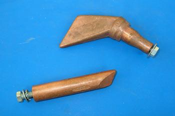 Estañador de maza, punta de cobre