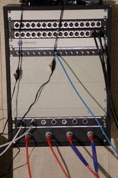 Caja de conexiones del plató
