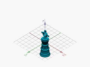Llavero ajedrez