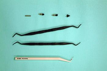 Juego de sonda y curetas para implantes