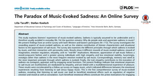 TARUFFI, Liila & Stefan Koelsch. The Paradox of Music-Evoked Sadness: An Online Survey.