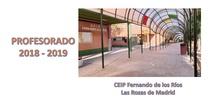 Profesorado del Curso 2018-2019_CEIP Fernando de los Ríos_Las Rozas