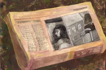 Las niñas: Foto en el periódico de Nuria