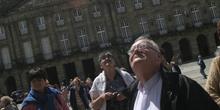 Turistas en Santiago de Compostela, La Coruña, Galicia