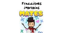 """4º Matemáticas Tipos de fracciones: fracciones impropias.<span class=""""educational"""" title=""""Contenido educativo""""><span class=""""sr-av""""> - Contenido educativo</span></span>"""