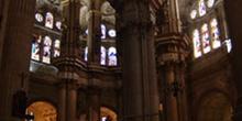 Pilares y bóvedas de la Catedral de Málaga, Andalucía