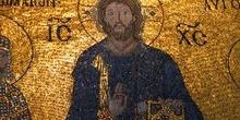 Frescos con escenas bíblicas en la Santa Sofía, Estambul, Turquí