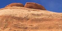 Detalle de una montaña rocosa