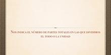 PRIMARIA - 5º - LOS TÉRMINOS DE UNA FRACCIÓN - MATEMÁTICAS