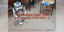 Investigación AIAS Bologna Onlus - UCM: STEM NAO 2 (en CEIP Miguel de Cervantes de Leganés)