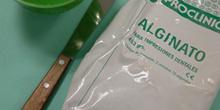 Taza y espátula de alginato