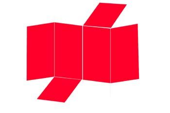 Desarrollo de una prisma tetragonal