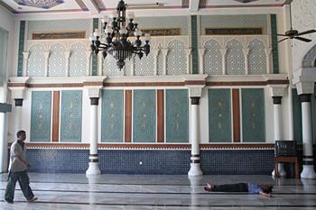Detalle de decoración en paredes, Banda Ache, Sumatra, Indonesia