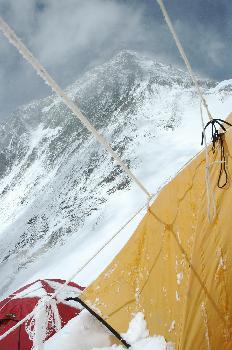 Tienda de campo 3 con vista al Everest