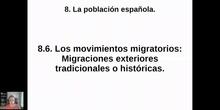 0806 y 0807 Las migraciones exteriores en España.