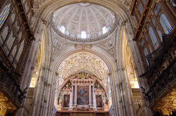 Interior de la Catedral de Córdoba, Andalucía
