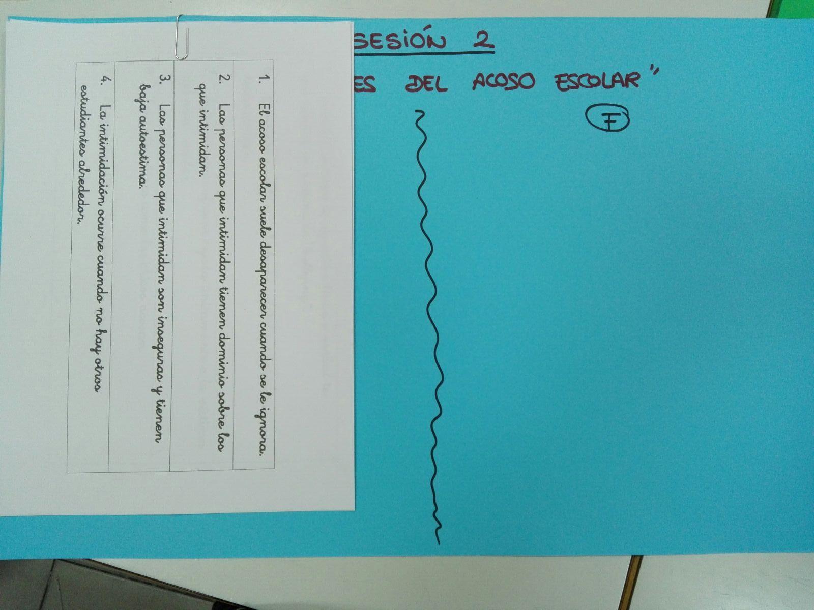 Dinámica de grupo sobre análisis de los mitos y realidades del acoso escolar 3