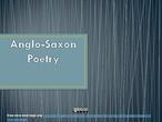 Anglo Saxon Poetry - Caedmon's Hymn