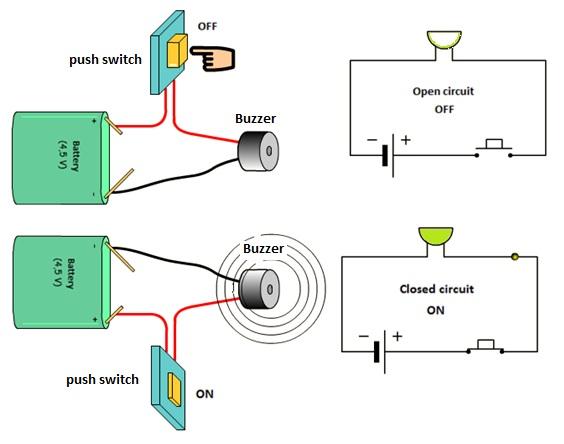 Simple buzzer circuit