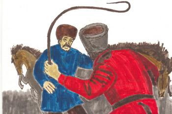 Miguel Strogoff (El correo secreto del zar): Ogareff humilla a S