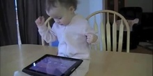 My 1 year-old baby plays Angry Birds