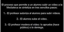 Mediateca: Moderar vídeos subidos por los alumnos