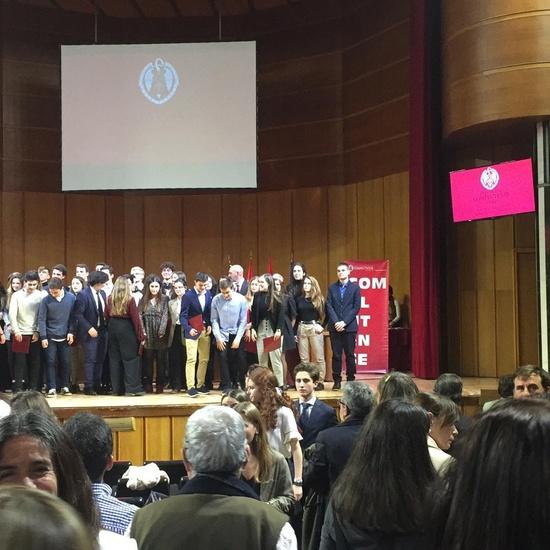 Reconocimiento Académico UCM a nuestro alumno Alex Nita  y al Caustro de profesores del IES Francisco de Quevedo 8