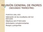 REUNIÓN GENERAL DE PADRES-2trimestre