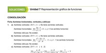 Soluciones de las fichas de asíntotas y representación de funciones
