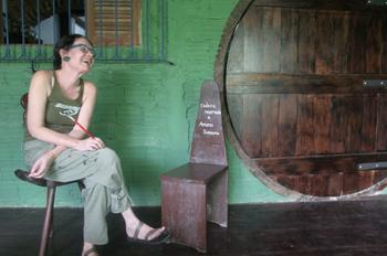 Retrato de Badida Campos, artista de Olinda, Pernambuco, Brasil