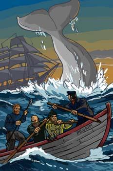 Un capitán de 15 años: La ballena defendiendo a su ballenato