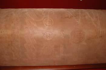 Detalle de cilindro grabado
