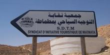 Indicativo turístico, Matmata, Túnez